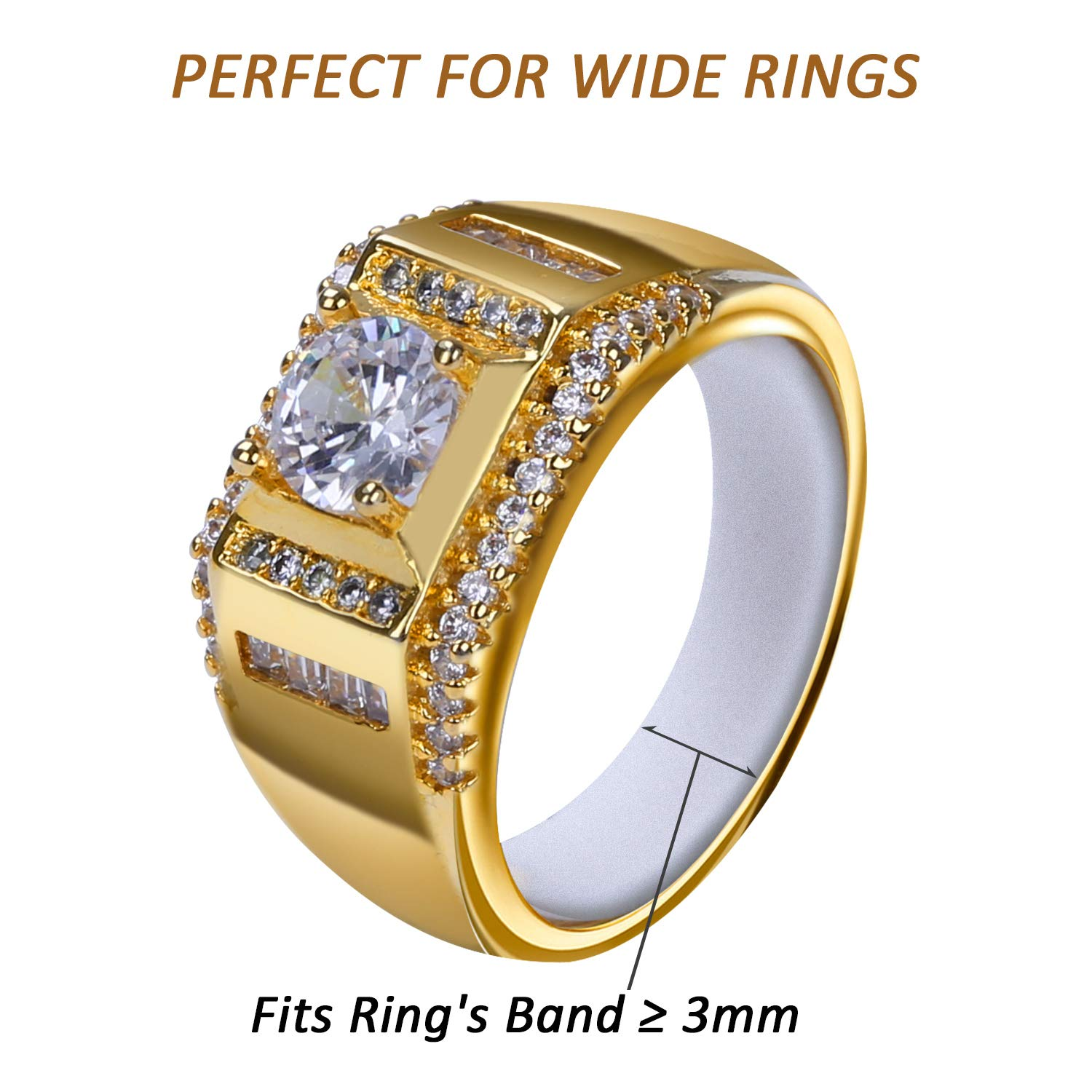 Ring Sizer for Loose Rings Women and Ring Size Adjuster Invisible Ring Guards Ring Spacer Ring Connector for Wedding Rings Fitter Tightener Resizers Strips