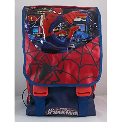 6e0d24b989 ZAINO SPIDERMAN MARVEL ESTENSIBILE BORSA SCUOLA ELEMENTARE CM. 40X30x25 -  470623: Amazon.it: Prima infanzia