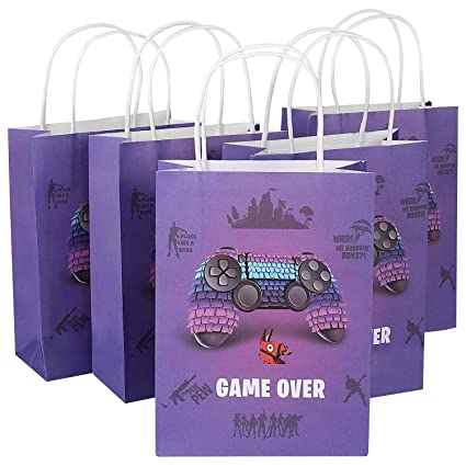 12 Pack Video Game Party Supplies Favor Gift Bags, Treat Bag for Birthday  Party, LLama Pinata Contoller Pattern