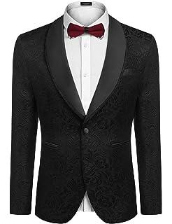 Amazon.com: COOFANDY - Chaqueta para hombre, diseño de rosas ...