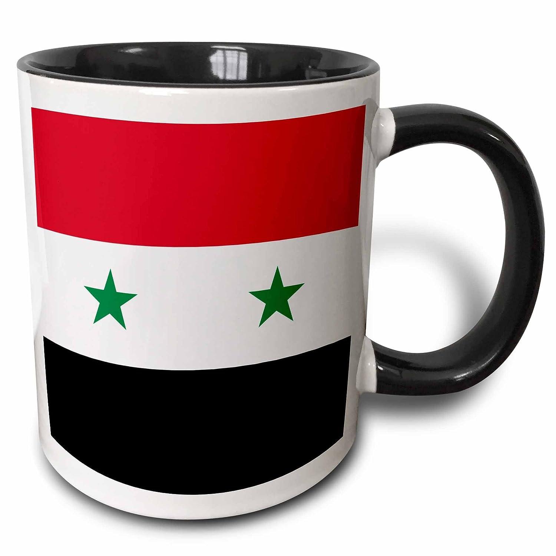 3dRose 158443/_2 Flag of Syria Mug 15 oz Black