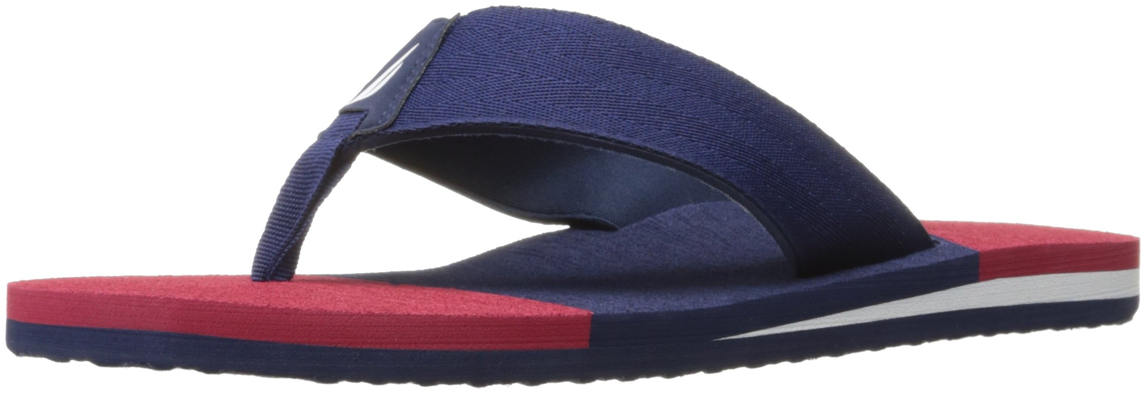 Nautica Men's Brookbury Flip Flop, Peacoat/Cherry, 11 M US
