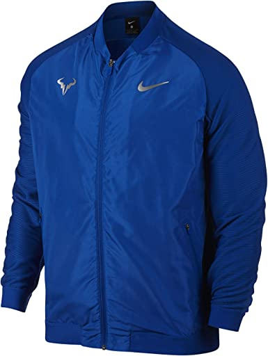 Nike Court Rafa Men S Tennis Jacket Small Rafael Nadal Amazon Co Uk Clothing