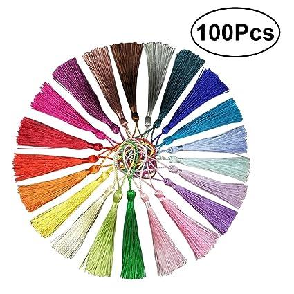ROSENICE DIY China Nudo Borlas para La Joyería Pendiente de Recuerdo Favorito Regalo Tag Llavero Arte de DIY 13 cm / 5.1 Pulgadas (20 Colores ...