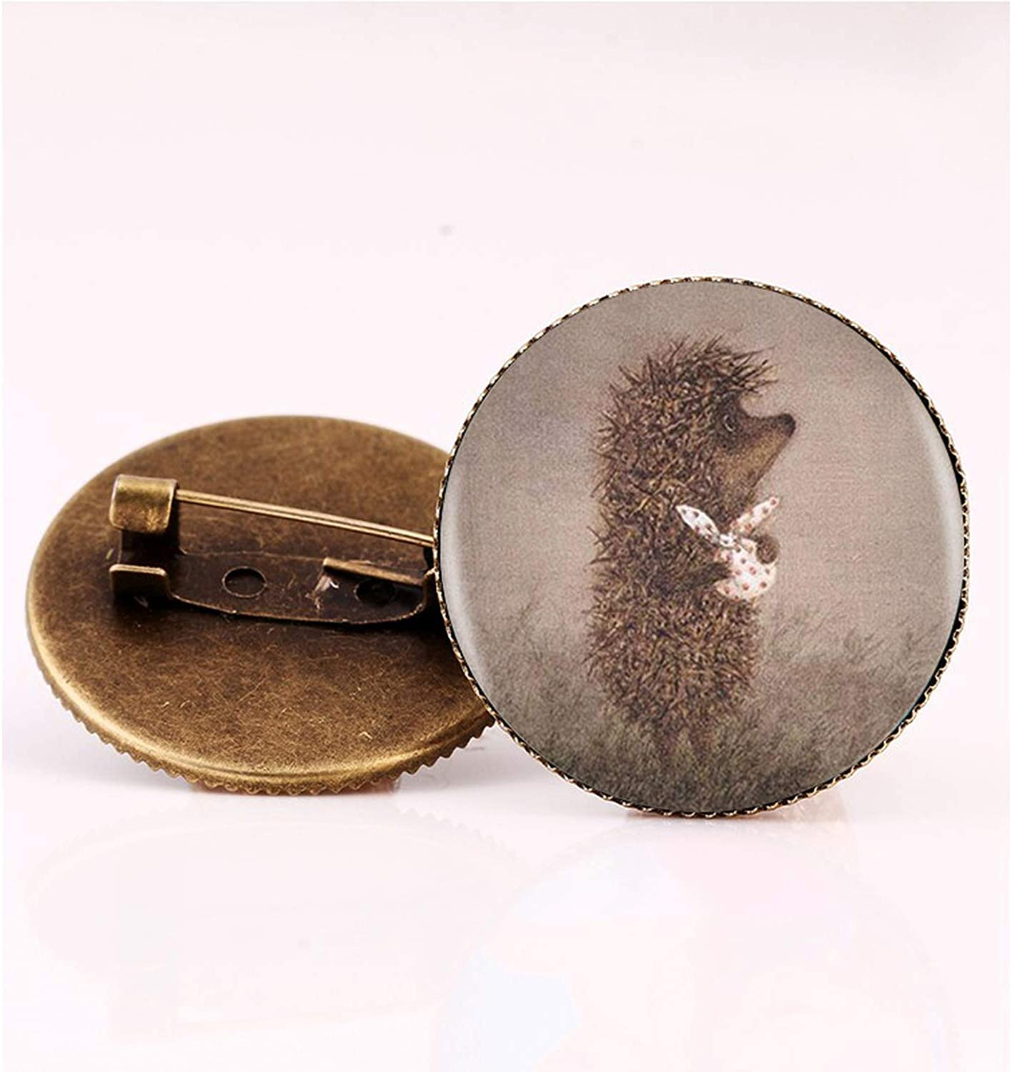 Zutty Vintage Hedgehog Brooch Special Animal Pins Vintage Jewelry Brooches Bronze Antique Plated Collar Pin for Women Gift