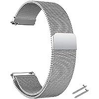 Snabbfrigörande klockarmband – 20 mm 22 mm flänsbredd rostfritt stål metallrem milanese nät armband magnetiskt lås…
