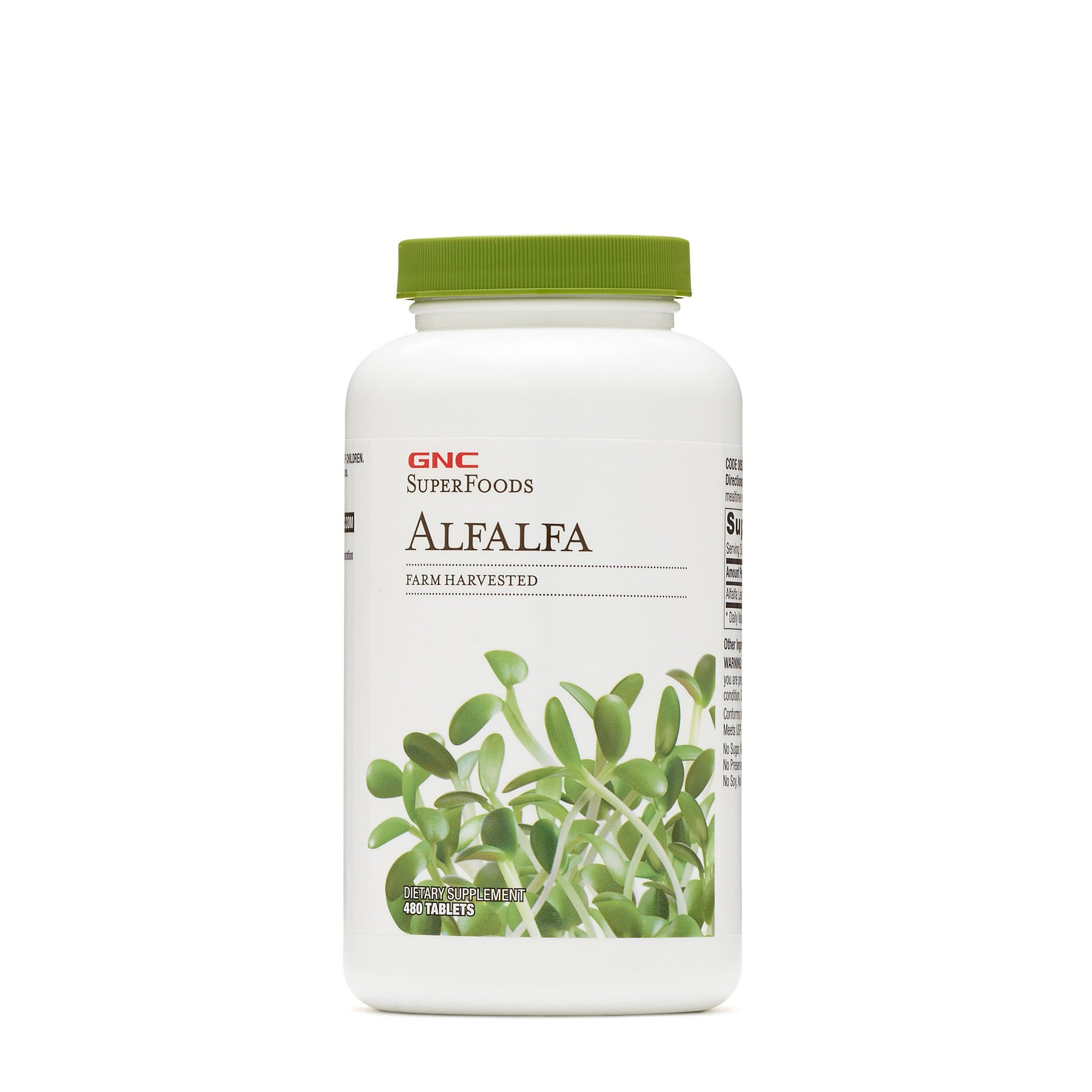 GNC Superfoods Alfalfa, 480 Tablets