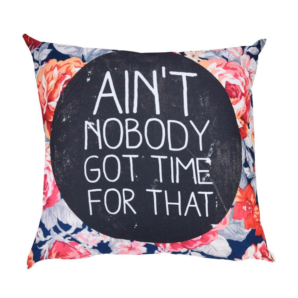 NUWFOR Print Pillow Case Polyester Sofa Car Cushion Cover Home Decor(F)