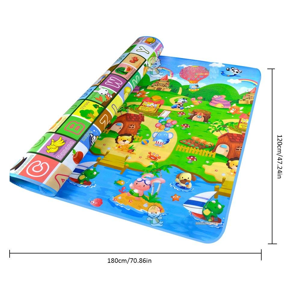 doble cara de espuma suave para actividades infantiles Alfombrilla de juegos para beb/é 182,88 x 119,94 cm para jugar al verano