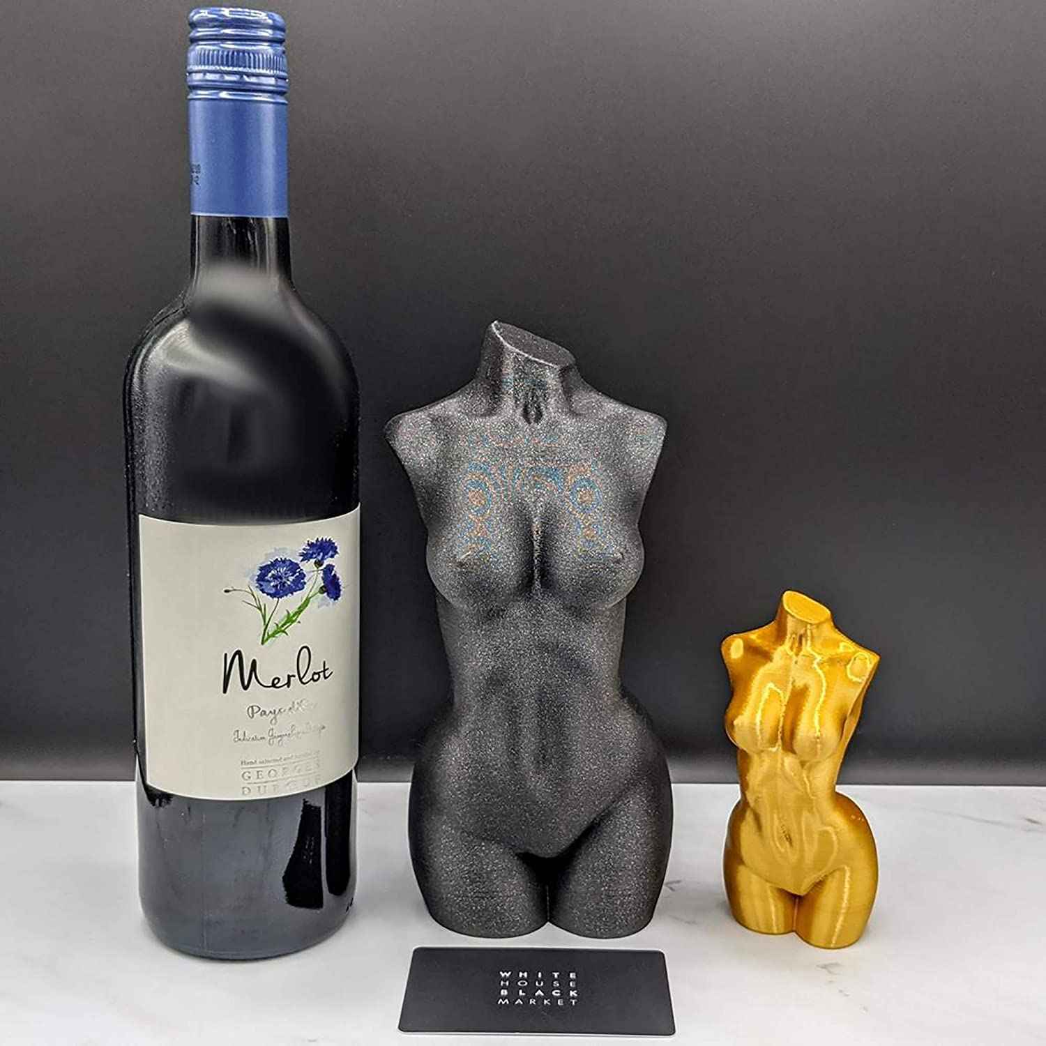 High Gloss Finish Female Torso 9-97 Shiny Mold Nude Woman Body Shape Mold for Resin Crafting Figure Shiney Figurine Silicon Mould