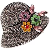 Comelyjewel Rhinestone Brooch Pins for Women Hat Jewelry Brooch Pins Durable and Useful