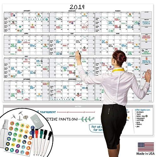 large dry erase wall calendar 58 x 38 blank 2018 2019