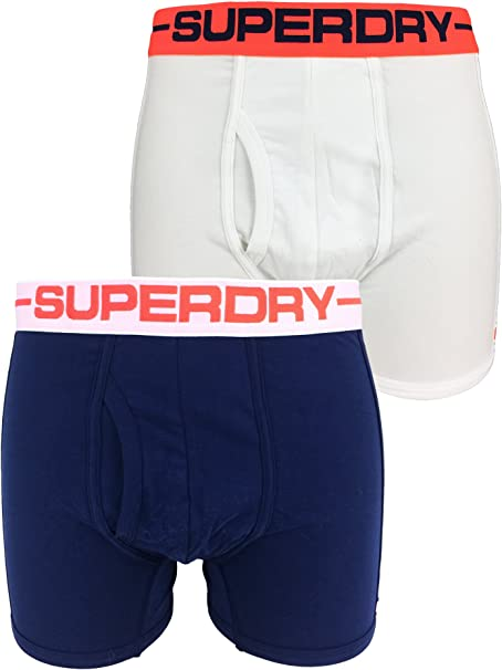 Superdry Navy Sports Double Pack Boxer Short