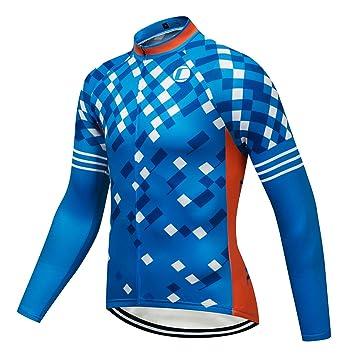 Men/'s Thermal Winter Cycling Long Sleeve Jersey Fleece Biking Cycle Shirts Tops