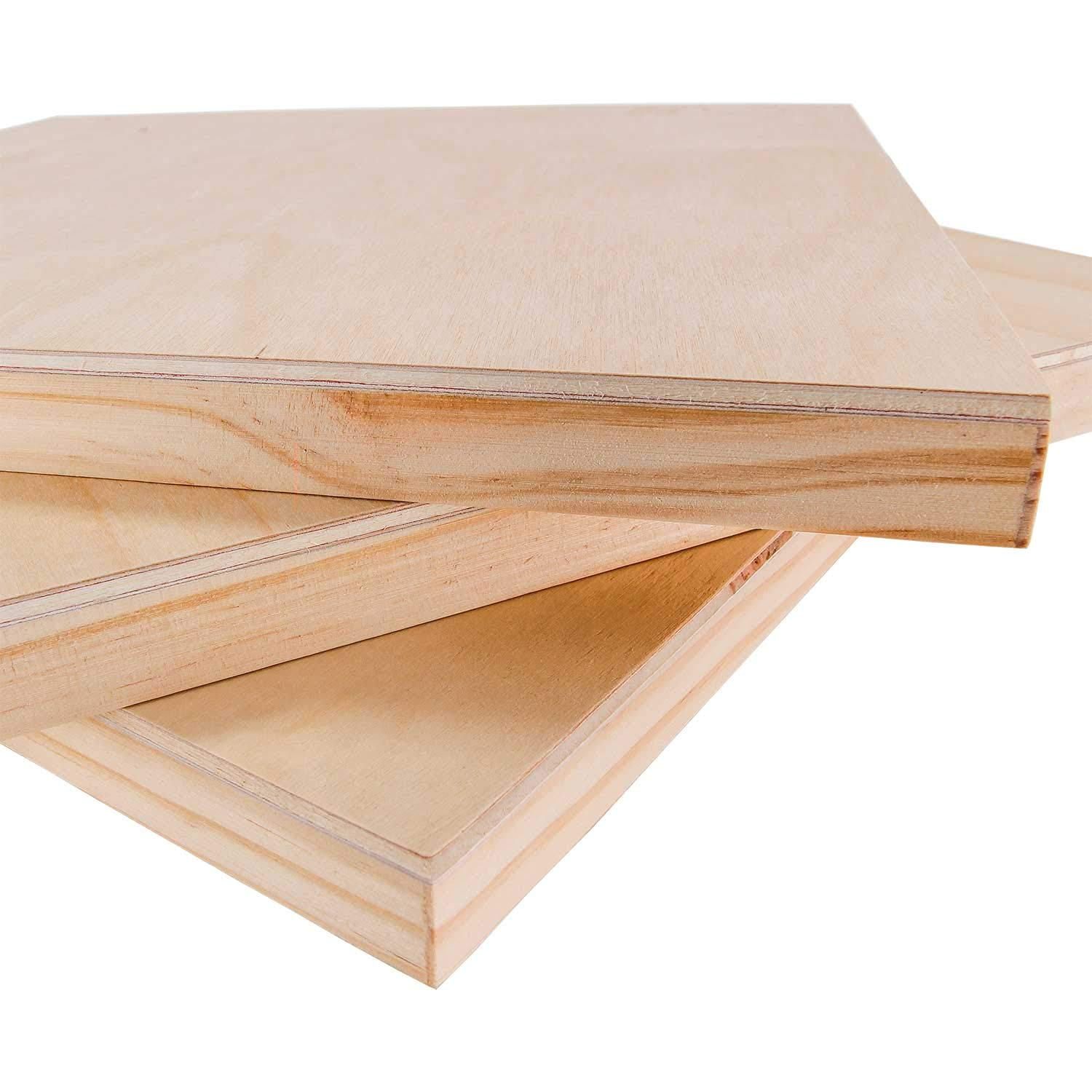 Studio 3//4 Deep Cradle Watercolor Encaustic Painting Mixed-Media Craft Acrylic - Artist Wooden Wall Canvases U.S Oil Pack of 3 Art Supply 11 x 14 Birch Wood Paint Pouring Panel Boards