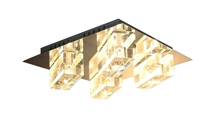 sx8783 - 04 A Cristal Diseño Lámpara de techo en cromo ...