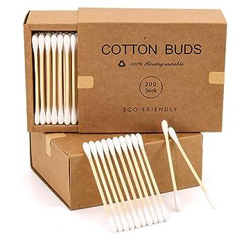 Cotton Buds 100 Bamboo Cotton Buds Ear Cotton Buds Cotton Swabs   Qtips