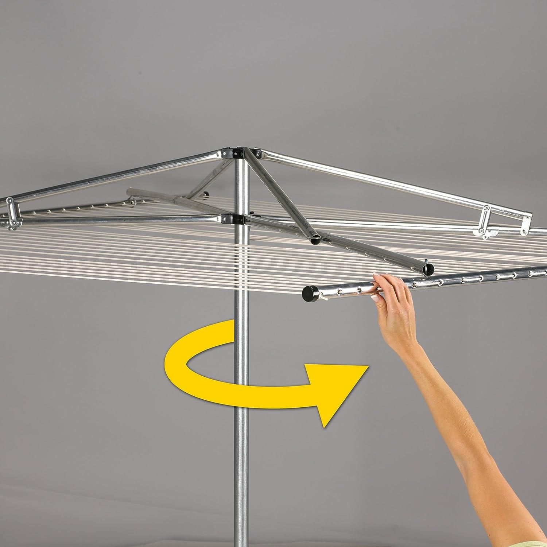 Household Essentials Umbrella Aluminum Clothesline Image 3