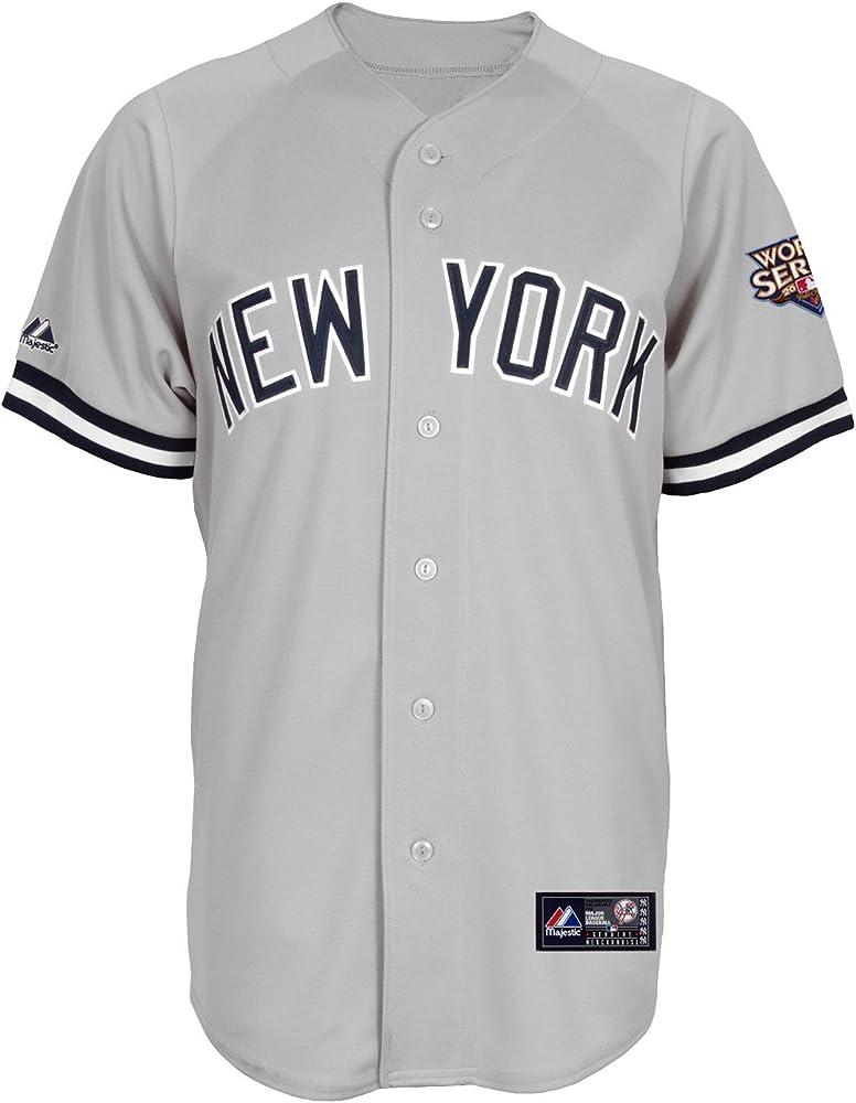 Majestic MLB New York Yankees Rafael Soriano Road Gris Manga Corta 6 Botón sintética Réplica de béisbol Jersey Primavera 2012 de los Hombres, Hombre, Road Gray: Amazon.es: Ropa y accesorios