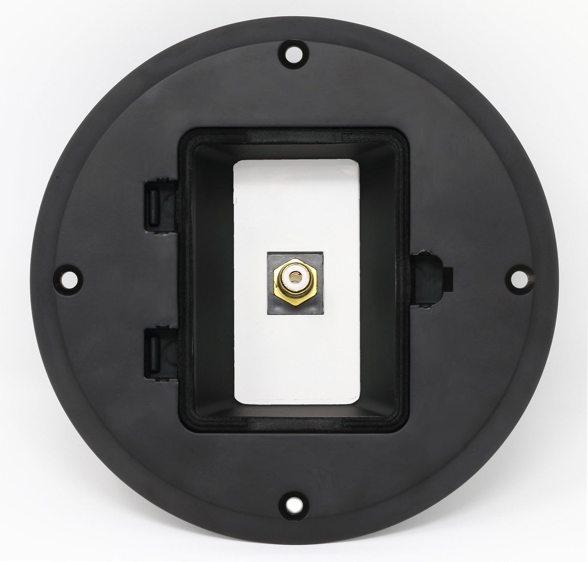 RiteAV 1 Port RCA for Subwoofer Audio Port Floor Box - Black