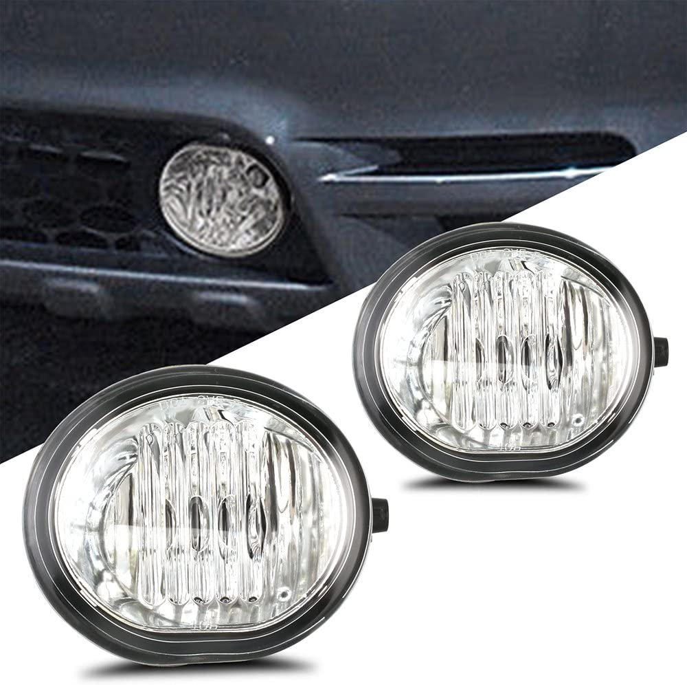 SCITOO Clear OE//Replacement Fog Light Assembly fit for TOYOTA RAV4 2004 2005 Pair Set