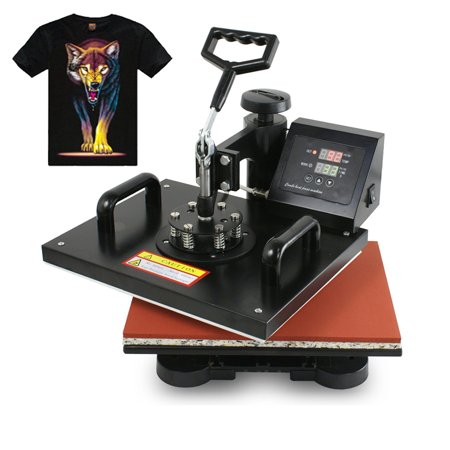 F2C Pro 6 in 1 Combo Heat Press Machine T-shirt Hat Cap Mug Plate Digital Transfer Sublimation Machine (6 in 1)