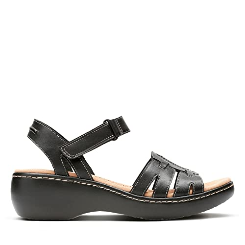 264942866c65 Clarks Delana Nila Leather Sandals in Black Standard Fit Size 4½ ...