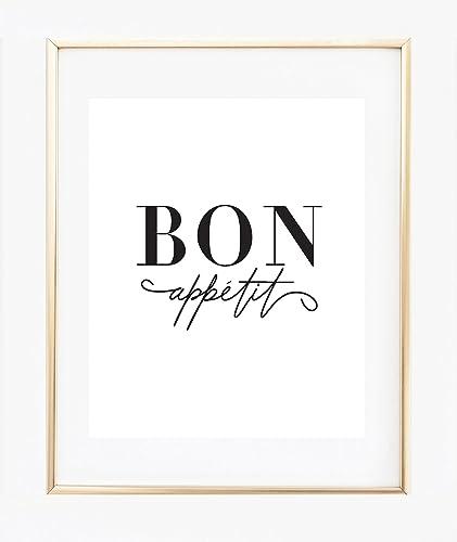 bce82c37ead Amazon.com: Bon Appetit print: Handmade