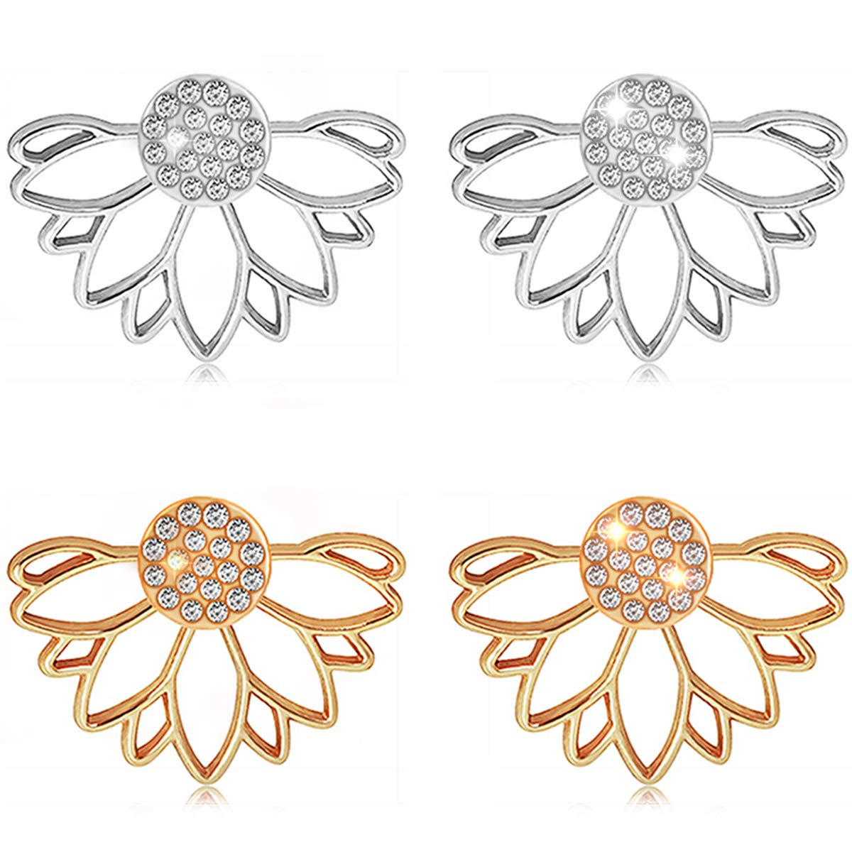 95345e055 Suyi Fashion Hollow Lotus Flower Earrings Crystal Simple Chic Stud Earrings  Set AGS: Amazon.ca: Jewelry