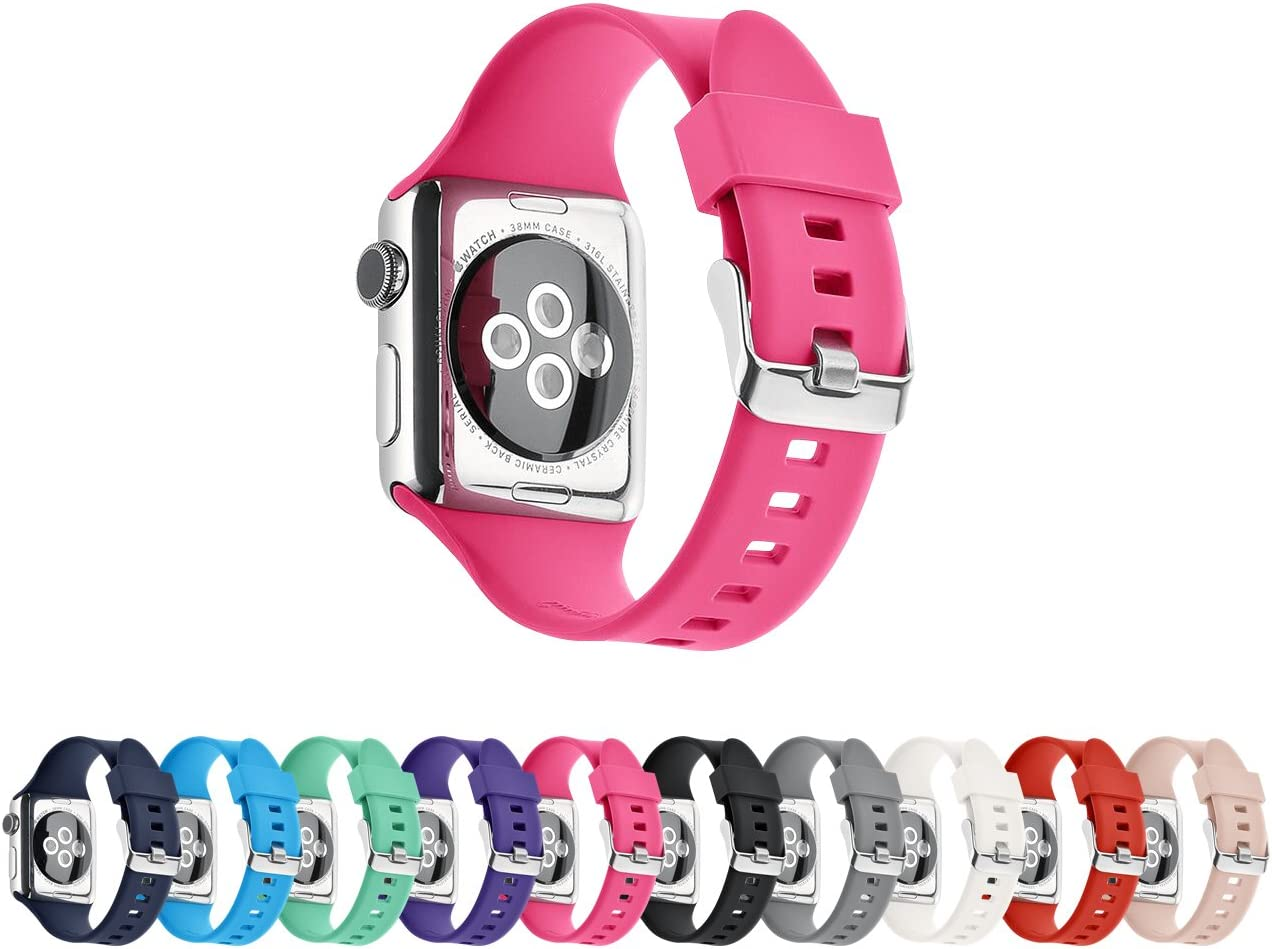 Pantheon Compatible Apple Watch Band 44mm 42mm Series SE 6 5 4 3 2 1 Silicone Sport Band Waterproof Compatible iWatch Bands for Men and Women