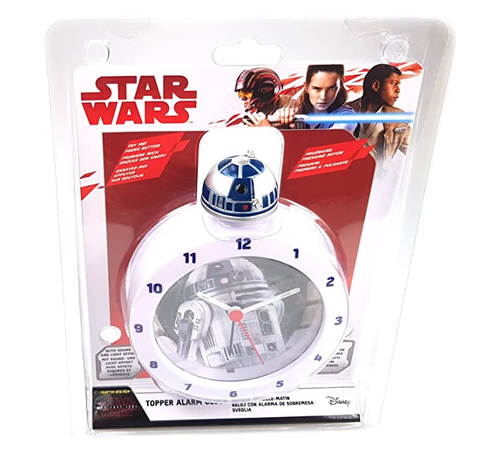 Amazon.com: R2-D2 Star Wars Alarm Clock - Lights up with R2D2 Sounds Affects: Home Audio & Theater