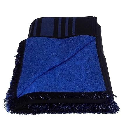 Grande 100% algodón doble cara toalla de playa pareo toalla de baño, color negro