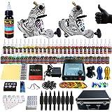 Solong Tattoo equipos del Tatuaje Completo 2 Maquina de Tatuaje 54 Tintas Fuente de Alimentacion Pedal Agujas Grips Consejos TK259