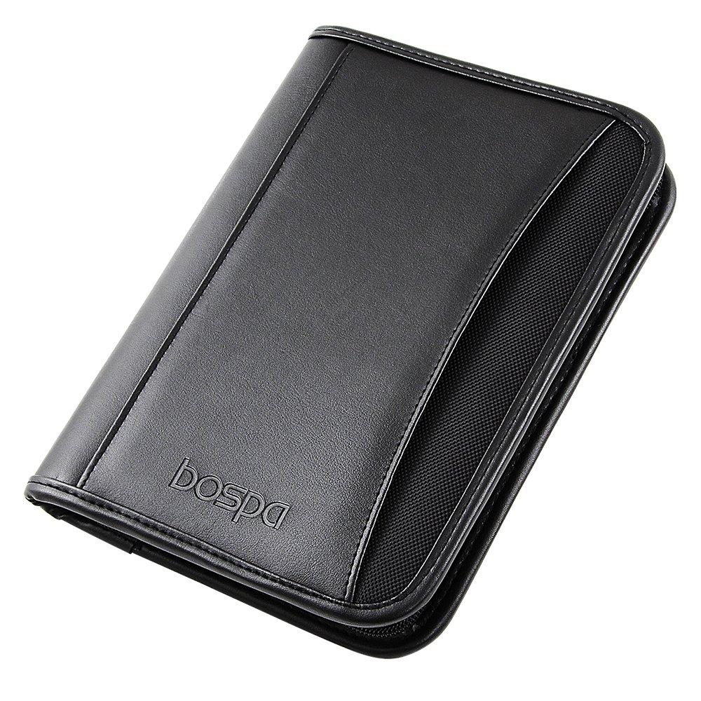 Bospa Padfolio Portfolio Folder/Multi function folder /Business Folder with Zippered Closure and Professional Leather 7 inch x 9.5 inch