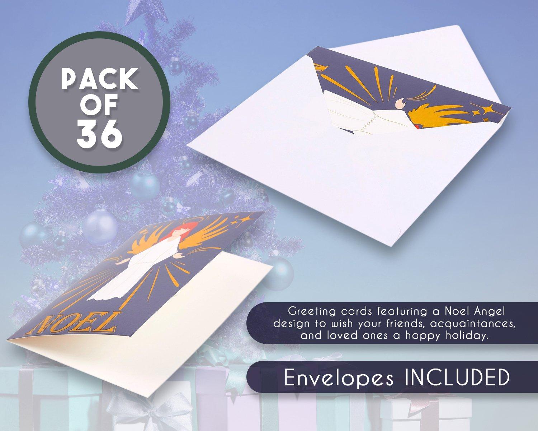 Amazon 36 Pack Merry Christmas Greeting Cards Bulk Box Set