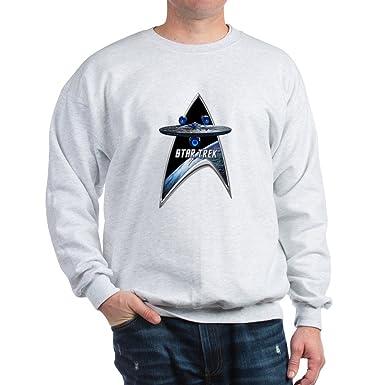 Amazon.com  CafePress StarTrek Command Silver Signia Enterprise JJA01 Sw -  Classic Crew Neck Sweatshirt  Clothing 8ae3d558175