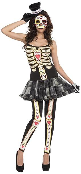 Amazon.com: Foro día de los muertos disfraz de la mujer ...