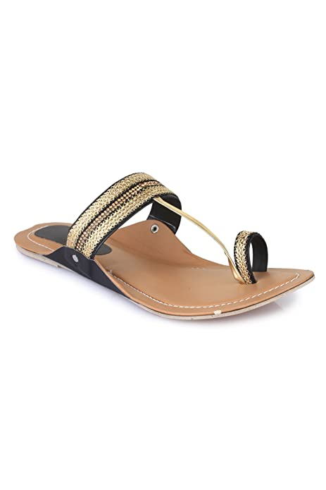 Leather Flats Chappal Footwear