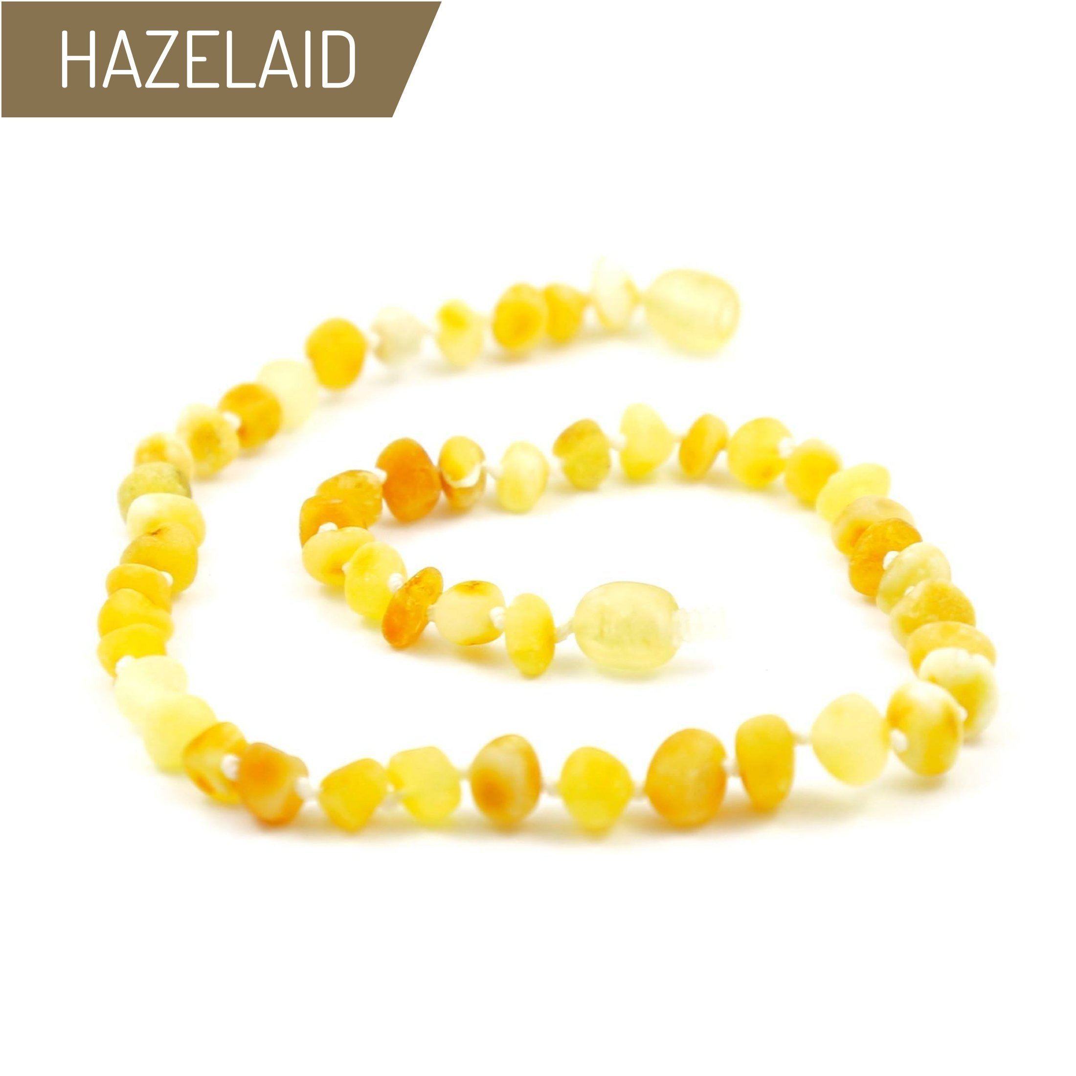 Hazelaid (TM) 12'' Twist-Clasp Baltic Amber Super Butter Necklace