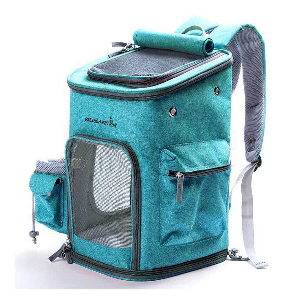 C ZH1 Pet Bag Outofdoors Shoulder Bag Foldable Portable Breathable Travel Pet Backpack, Removable Cushion, 5 color Options, 28  26  43cm Pet Bicycles (color   B)