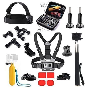 tekcam esencial Kit de accesorios con funda para GoPro Hero 6 5 negro Akaso ek7000 4