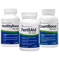 FertilAid for Men, MotilityBoost, Countboost Bundle ( 1 Month Supply)