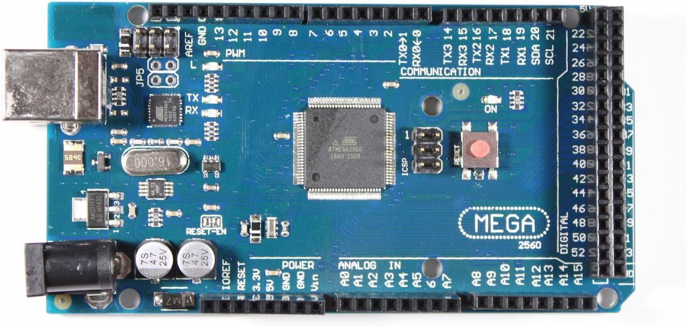 ATmega16U2 Paradisetronic.com Mega 2560/R3/Carte /à microcontr/ôleur ATmega2560 100/% Compatible Arduino