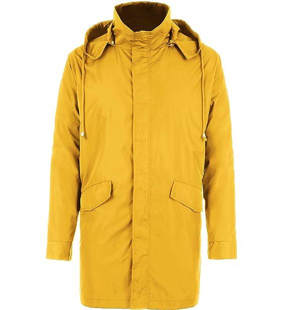 Amazon.com: bosbary Raincoats - Chubasquero con capucha para ...