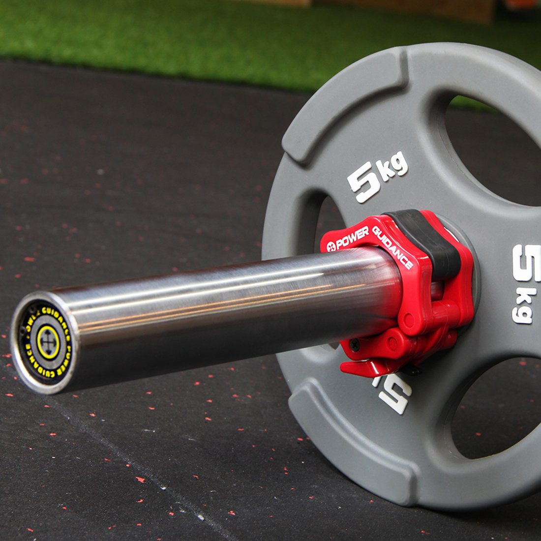 POWER GUIDANCE Barra de pesas olímpico Barra abrazadera ABS Control collares Gran Cruz de la aptitud del entrenamiento (1 par), Estándar / 50mm Lanzamiento ...