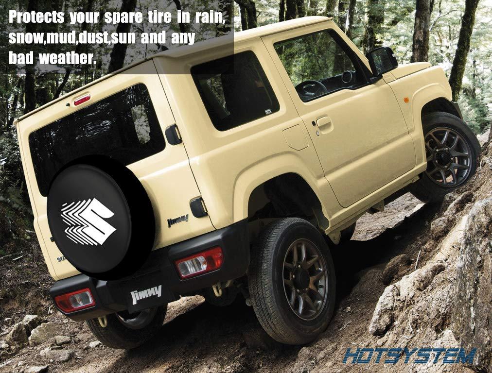 Tire Diameter 29-31 HOTSYSTEM 16inches Spare Tire Cover Wheel Protectors Weatherproof PU Leather for Suzuki Vitara Grand Vitara XL-7 Jimmy Escudo