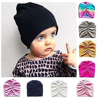 32a22f7f4c9 Amazon.com   Fheaven (TM) Newborn Indoor Winter Hat Toddler Baby Boy Girl  Turban Beanie Hat Headwear Hat (D)   Beauty