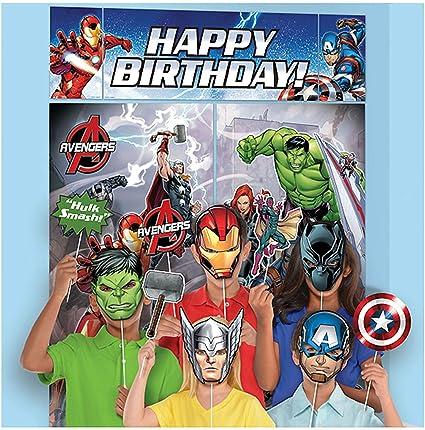 5 Piece Avengers Epic Superhero Birthday Party Scene Setter Decoration Kit