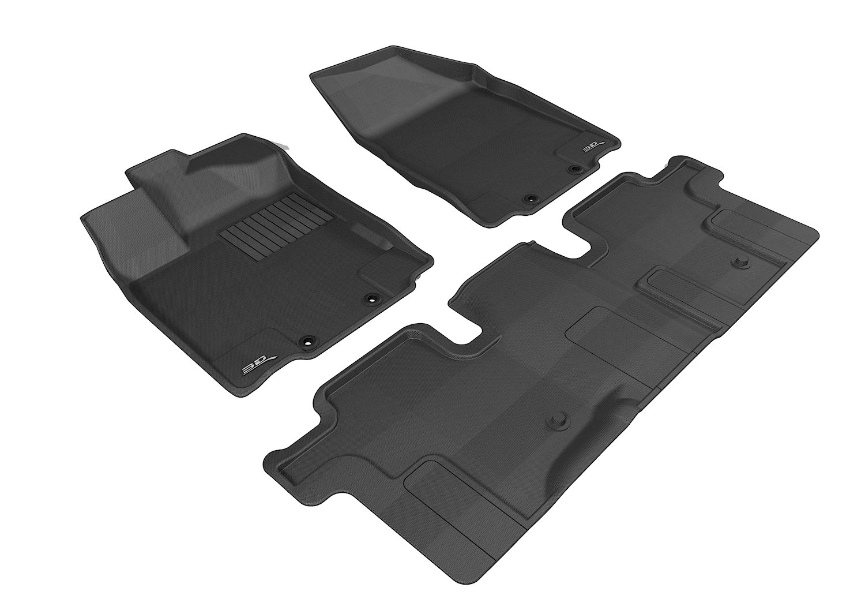 Rubber floor mats nissan pathfinder 2013 - Amazon Com 3d Maxpider Complete Set Custom Fit All Weather Floor Mat For Select Nissan Pathfinder Models Kagu Rubber Black Automotive