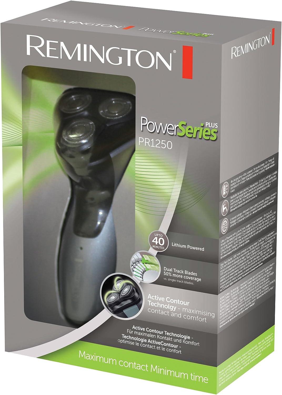 Remington PR1250 - Afeitadora (Batería, Litio, Rotación, Negro ...